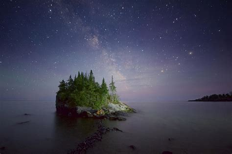 Milky Way Over Lake Superior Photograph by Craig Voth