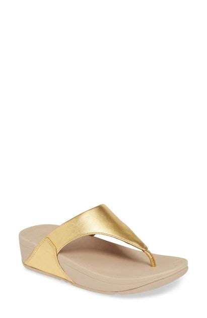 Lulu Flip Flop In Artisan Gold (With images) | Fitflop, Classic flip flops, Flop