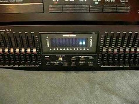 Sansui Stereo Graphic Equalizer SE-8 - YouTube