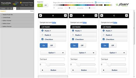 jQuery Mobileのテーマを作成する | Developers